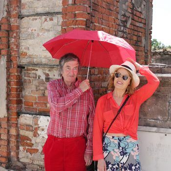 Mike and Victoria Melody at St. Louis Cemetery No. 1 in New Orleans